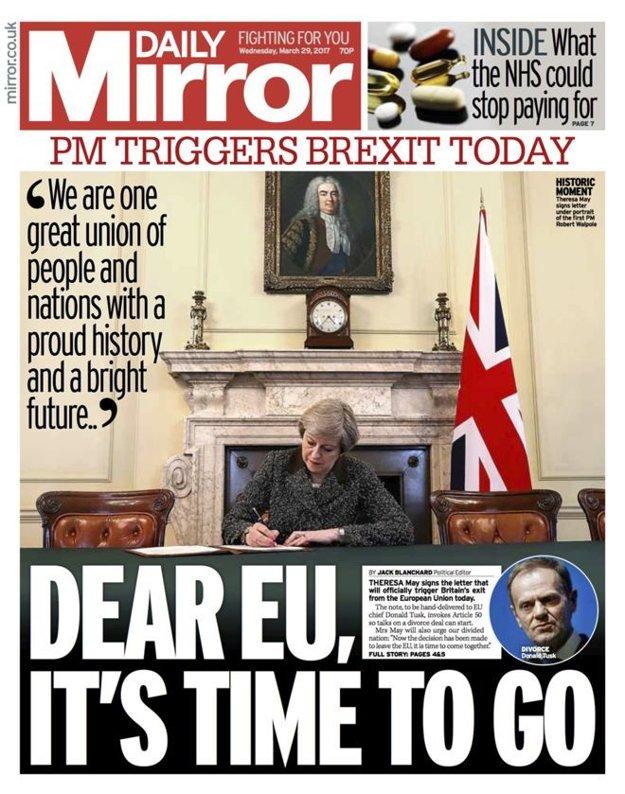 Drahá EÚ, je čas ísť... píše Daily Mirror.