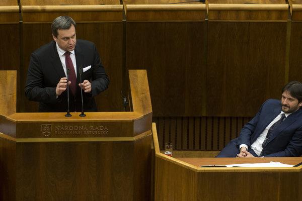 Predseda parlamentu Andrej Danko a minister vnútra Robert Kaliňák.