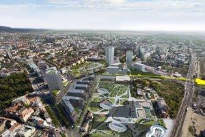 Vizualizácia nadzemky, ktorá by mohla byť alternatívnym spôsobom verejnej dopravy v hlavnom meste.