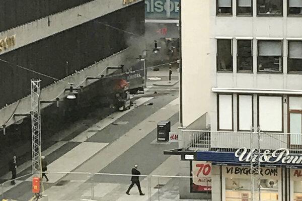 Útok sa odohral v štvrti Normmalm.