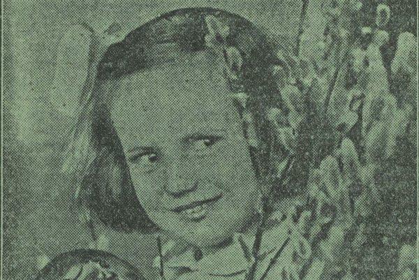 Dievča s kraslicou.