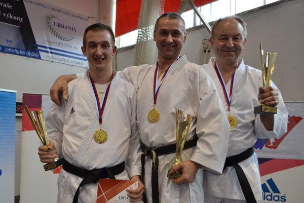 Zľava: Kristián Michalec, Peter Michalec a Ján Jurga.