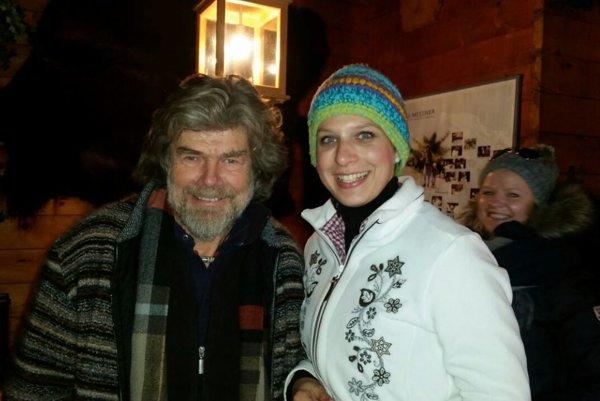 Svetoznámy Messner sPrešovčankou Lozákovou.