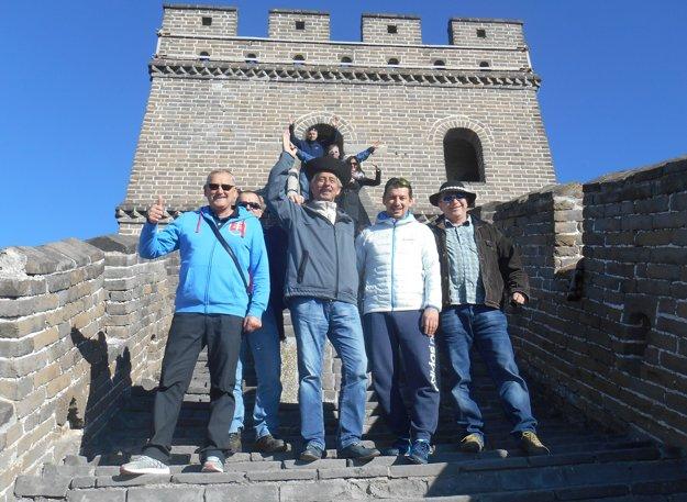 Oravská výprava na Čínskom múre v Pekingu.