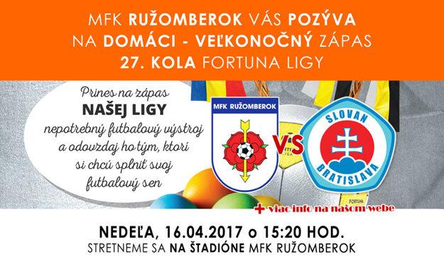 Počas veľkonočných sviatkov čaká Ružu domáce stretnutie o dôležité ligové body so Slovanom Bratislava.