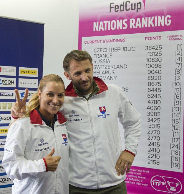 Dominika Cibulková a Matej Lipták.