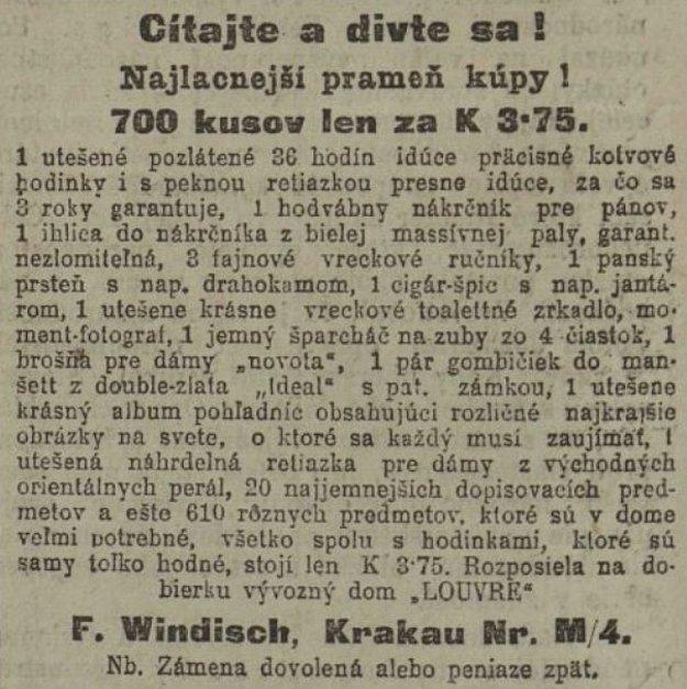 Slovenské noviny z 13. 3. 1914