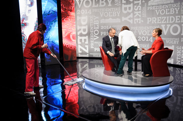 Vo volebnom štúdiu RTVS.