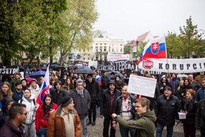 Pochod študentov proti korupcii v Bratislave.