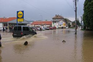 Mesto bolo pod vodou.