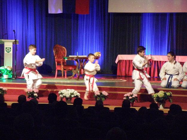 Spestrením programu boli súborné cvičenia Kata a Bukai v podaní členov Karate klubu Nové Zámky