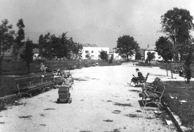 Hviezdoslavov park v Martine v roku 1957.