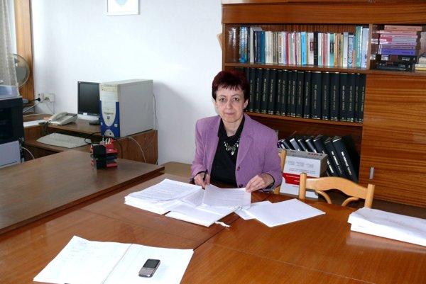 Viera Toporová, vedúca odboru všeobecnej vnútornej správy Okresného úradu vMartine.
