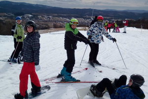 Na lyžiarskom výcviku.