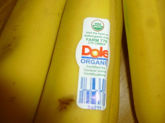 PLU kód na banánoch
