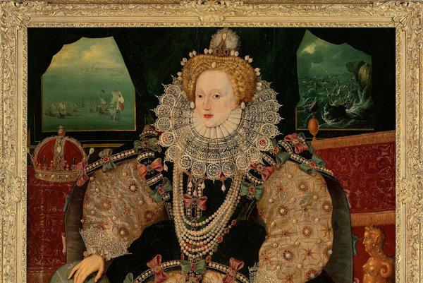 Portrét britskej kráľovnej Alžbety I.