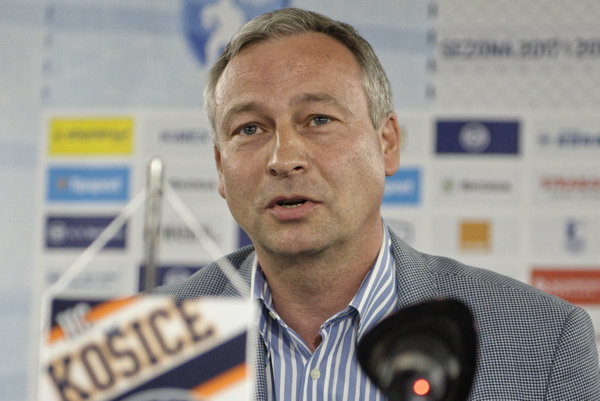 Prezident HC Košice Július Lang.