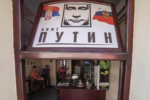 Bar Putin v Belehrade.