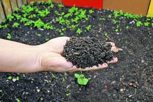 Kompost z biologicky rozložiteľného odpadu si budú môcť obyvatelia vziať.