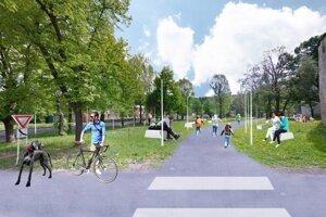 Jeden z návrhov rieši aj park pri Kežmarkom hrade.