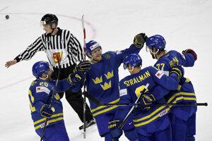 Hokejisti Švédska sa tešili z víťazstva.