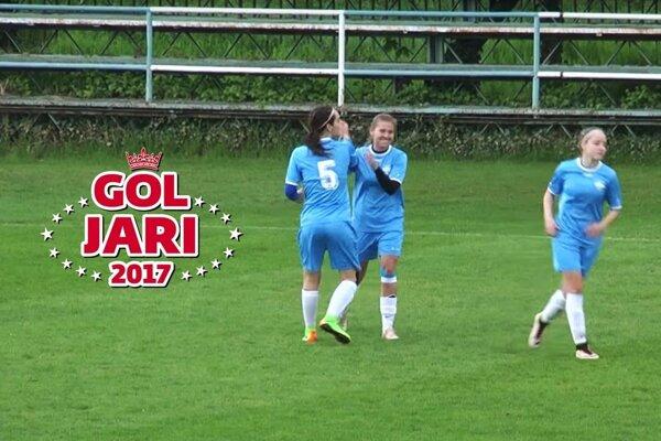 Stredopoliarka FC Nitra Martina Čibiková trafila do myjavskej siete až dvakrát.