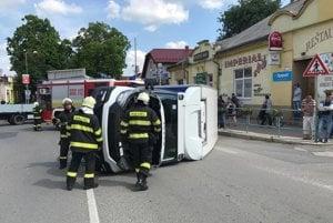 Nehoda v Moldave nad Bodvou.
