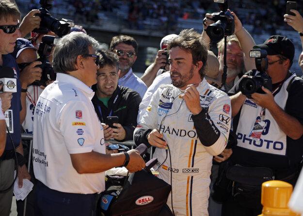 Fernando Alonso po skončení kvalifikácie.