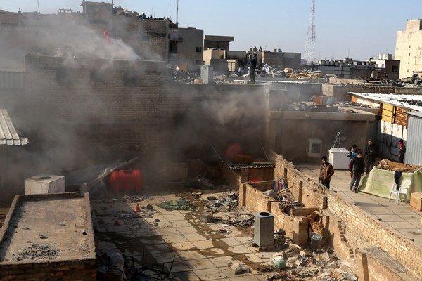 Februárové bombové útoky v Bagdade.