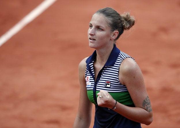 Česká tenistka Karolína Plíšková sa prebojovala na Roland Garros medzi osem najlepších.