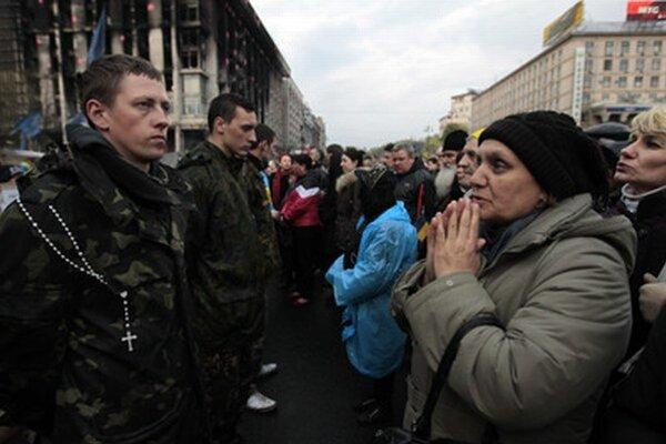 Ukrajinci na euromajdane.