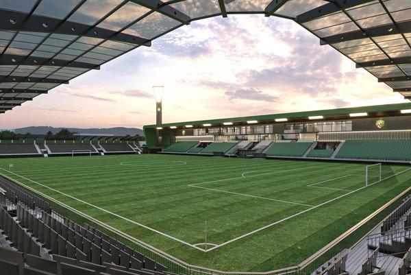 Takto by mal vyzerať nový prešovský štadión. Otázne však je, kedy bude dokončený.