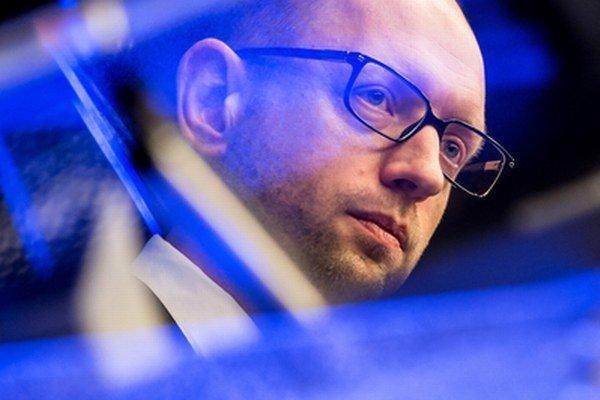 Odstupujúci ukrajinský premiér Arsenij Jaceňuk.