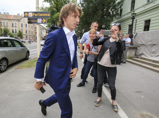 Ako svedok už v utorok vypovedal hráč Realu Madrid Luka Modrič.