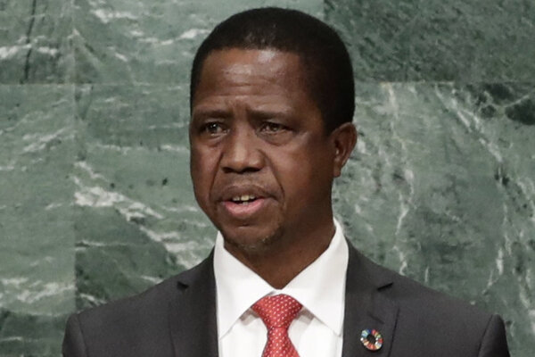 Zambijský prezident Edgar Lungu.
