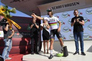 Peter Sagan vyhral na Okolo Švajčiarska bodovaciu súťaž.