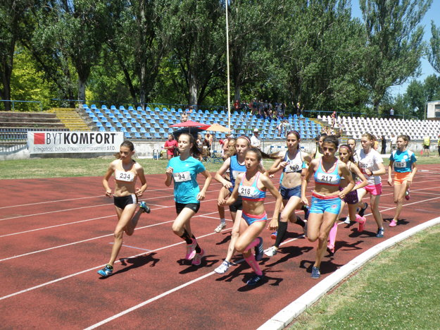 Najdlhšou bežeckou traťou dievčat bola osemstovka