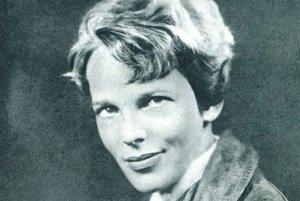 Amelia Earhart, slávna americká pilotka.