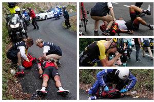 Deviata etapa Tour de France 2017 bola osudná hneď niekoľkým cyklistom.
