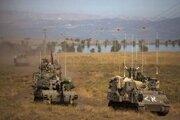 Izraelskí vojaci na Golanských výšinách.