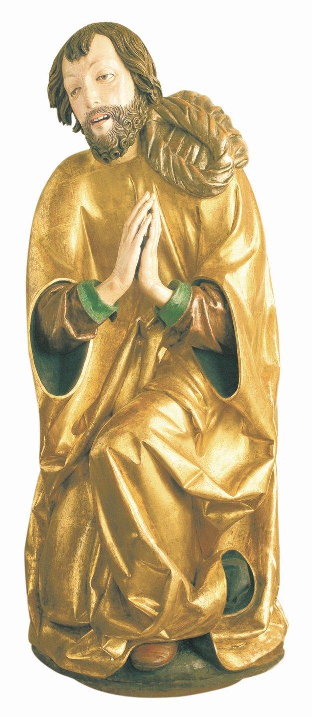Sochy svätcov. Originály sú na Pavlovom Oltári narodenia.