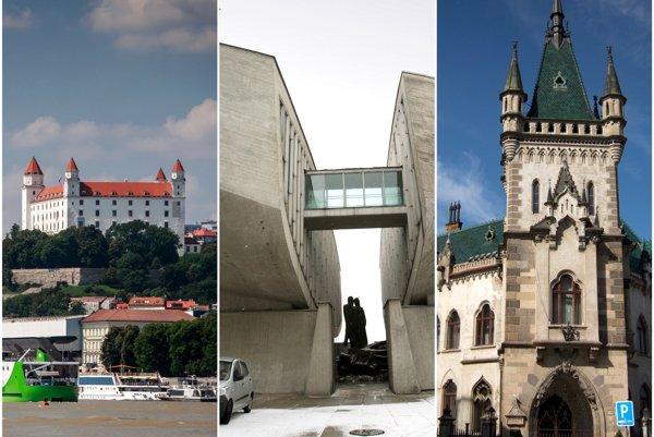 Bratislava, Banská Bystrica, Košice.