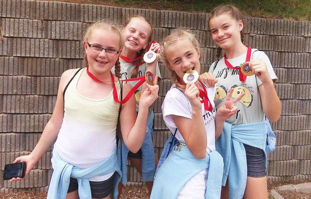 Zlaté tanečnícky z kategórie deti zNámestova.