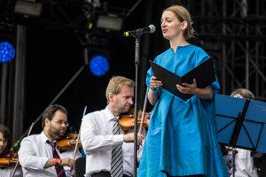 Katarína Máliková na festivale Pohoda spievala aj uspávanky s orchestrom.