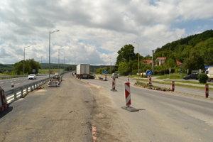 Výjazd na diaľnicu smer Poprad.