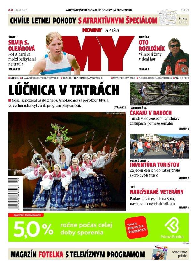 MY Noviny Spiša nájdete v stánkoch do 14. augusta.