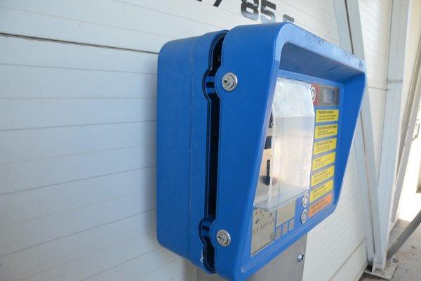 Poškodený automat.