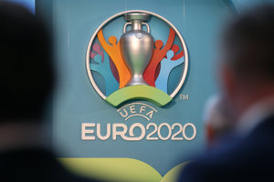 Logo Euro 2020. Ilustračné foto.