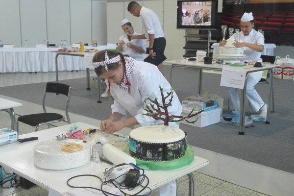 Natália Šinglárová počas súťaže.