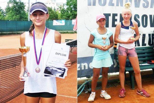 Vľavo Ana Šabíková. Na druhej fotke zľava Lucia Hradecká a jej finálová premožiteľka Kubáňová z Rožnova pod Radhoštěm.